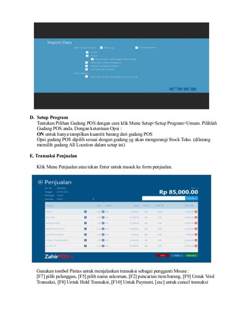 tutorial zahir pos panduan pengoperasian zahir pos 6