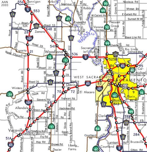california map i5 interstate guide interstate 505 california