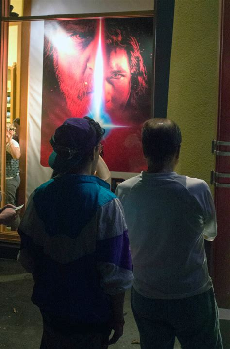 opening night fan event star wars the last jedi star wars fans line up in downtown disney for merchandise