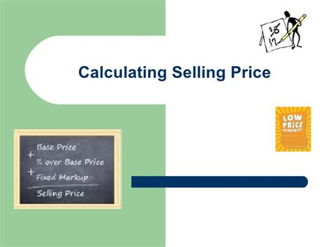 m10 l6 calculating selling price