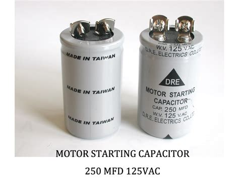 ac capacitor mfd 250 mfd 125 vac allen creations corp