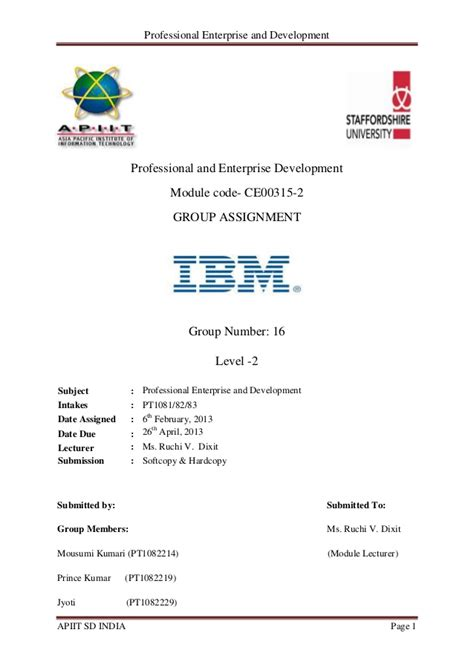 business letter writing for ibm professional enterprise and development ibm