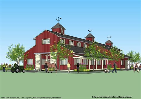 Barn Plans Designs by Home Garden Plans News B20h Large Horse Barn Plans For