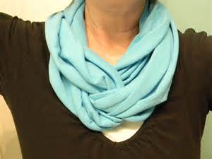 How To Fold Infinity Scarf Make An Infinity Scarf From A T Shirt Organize And