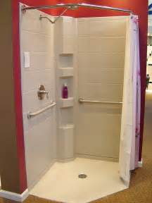 Handicap Accessible Bathroom Vanities Companies Produce Corner Shower Kits That Have Curtain