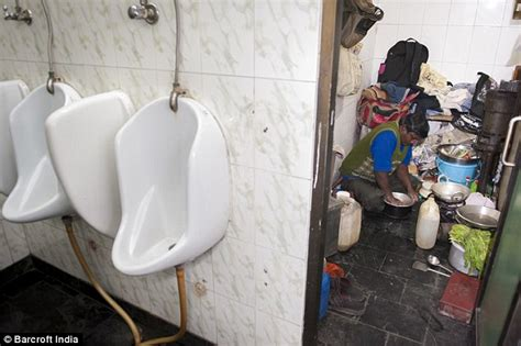 hidden public bathroom cam delhi man who lives works and eats in a public toilet in
