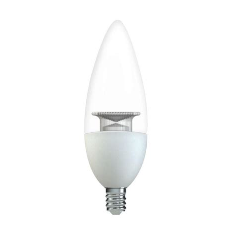 Led Clear Light Bulbs Ge 60w Equivalent Soft White B11 Blunt Tip Clear Candelabra Base Dimmable Led Light Bulb 2 Pack