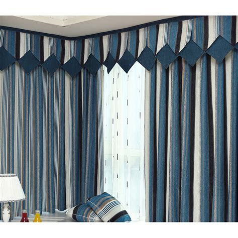 blue striped curtains bedroom blue striped chenille jacquard modern bedroom curtains