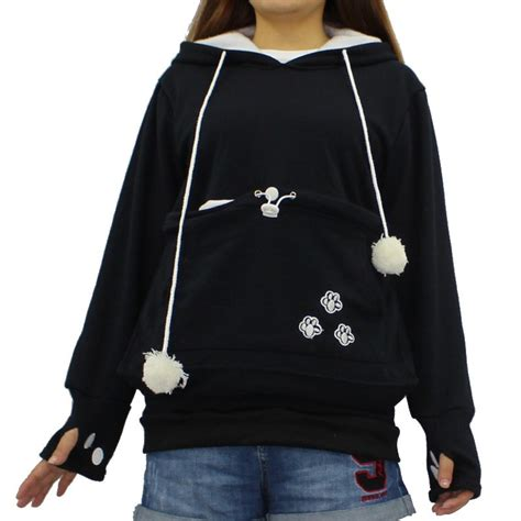 Cat Hoodie cat hoodies pouch pet hooded pullover with ears sweatshirt s 4xl ebay