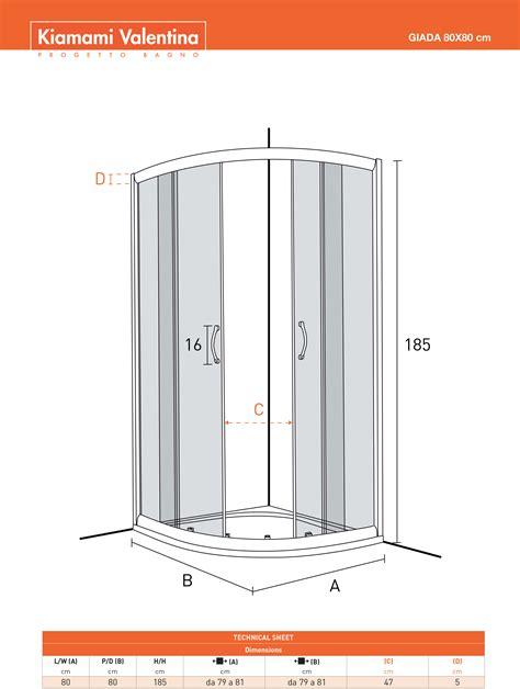 box doccia ebay box doccia semicircolare modello giada 80x80 cristallo