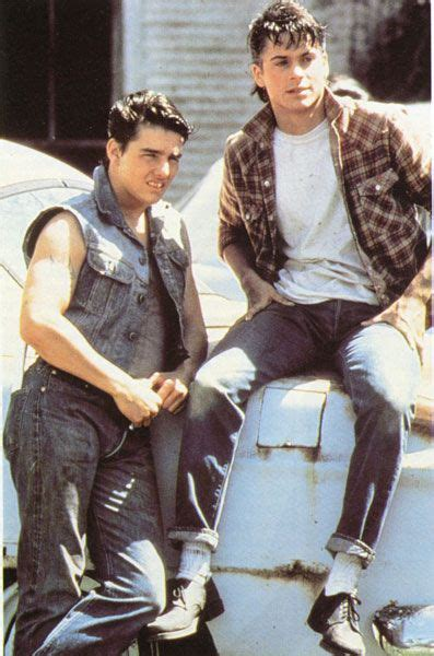 outsiders coppola s new version starring rob lowe steve and sodapop steve and soda pinterest movie