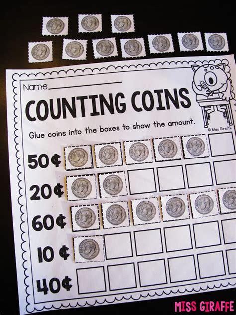 Counting Coins 1 10 Belanbe miss giraffe s class teaching money