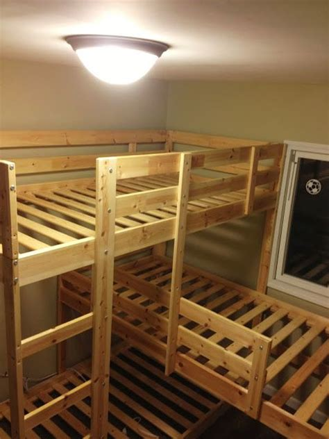 bunk bed hacks triple bunk hack mydal bunkbeds ikea hackers boys