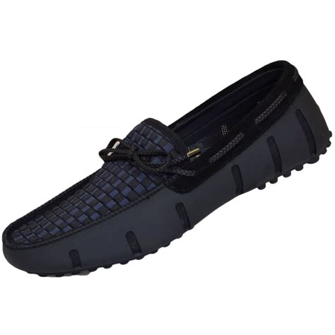 swims loafer black swims lace woven black loafer swims from n22 menswear uk