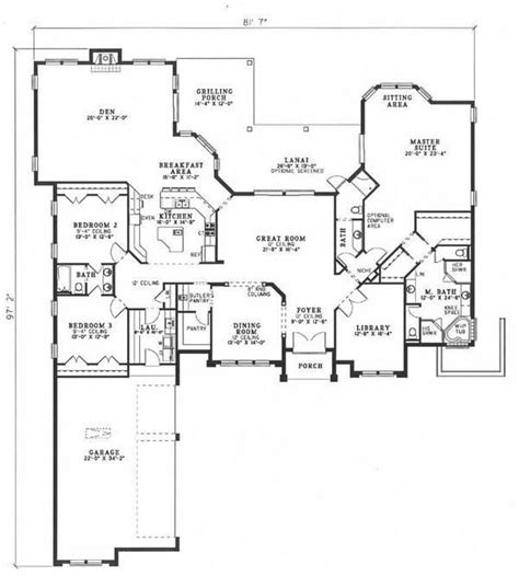 Great Room Picmia Florida Floor Plans Great Room