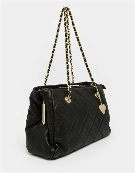 Quilted Shoulder Bags by Marc B Kate Quilted Shoulder Bag In Black Lyst