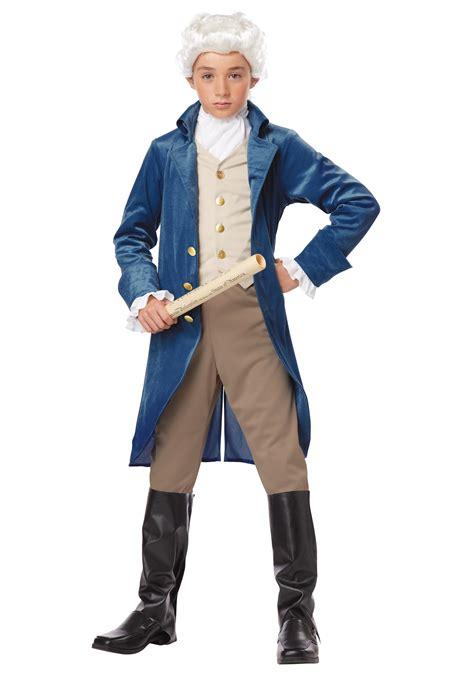 B1416 Gw Shirt Child boys george washington costume