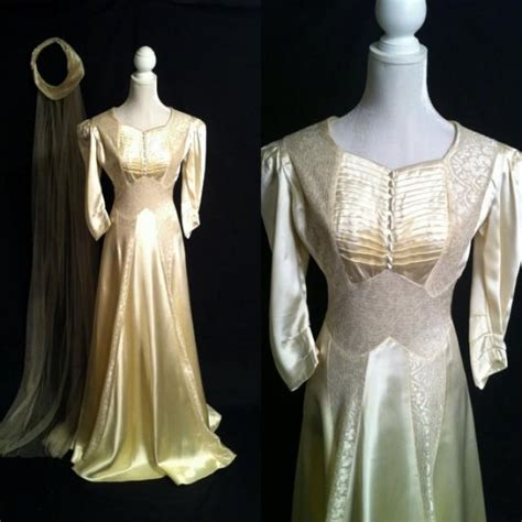 Vintage Satin Wedding Dresses by Vintage 1920s Wedding Gown Edwardian Wedding Dress Satin