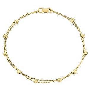 9ct gold two row bracelet   Ernest Jones