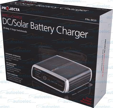 battery charger for agm 12 volt projecta 12v volt dc to dc 25a battery charger agm