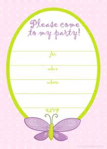 free birthday invitation template printable free printable invitations free pink butterfly