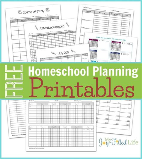 homeschool planner template 95 best images about work docs on homeschool