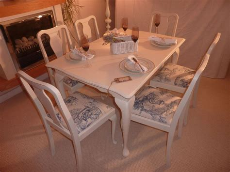 Shabby Chic Extendable Dining Table With 6 Chairs Painted Shabby Chic Dining Table Chairs
