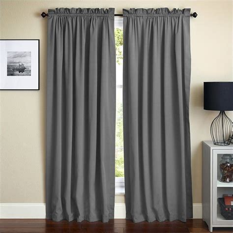 Steel Grey Curtains Blazing Needles 108 Inch Twill Curtain Panels In Steel Gray Set Of 2 Dp 108x52 Rp Tw Gy