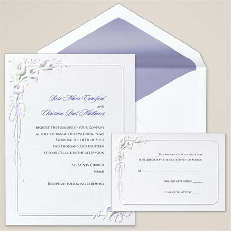 Calla Wedding Invitation