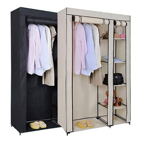 Canvas Wardrobe Canvas Wardrobe Rail Clothes Storage Cubpboard