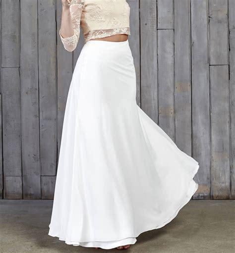 hammond bridal maxi skirt by house of ollichon