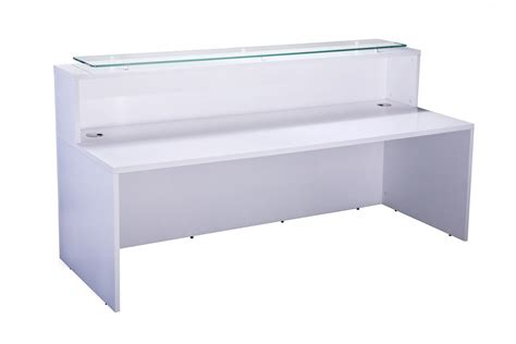 Gloss White Reception Desk White Gloss Reception Desk Polar Desk Only Reality