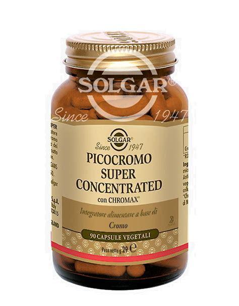 alimenti con cromo picocromo concentrated di solgar 90 capsule vegetali