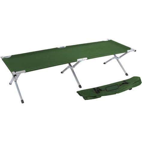 trademark innovations   portable folding camping bed