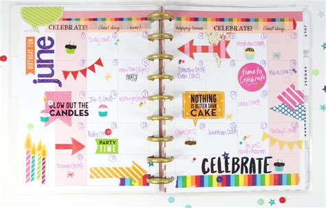 Wedding Anniversary Planning Ideas by The Happy Planner Birthday Anniversary Planner Me