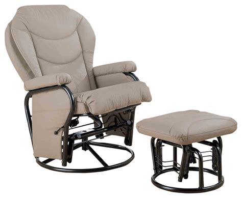 gliding rocker with ottoman recliners with ottomans glider rocker with round base
