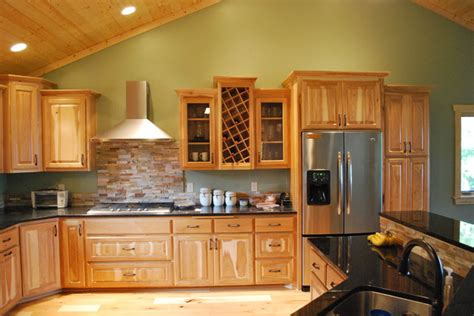 Kitchens With Dark Brown Cabinets by Hickory Cabinets