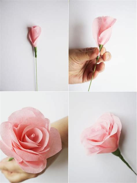 How To Make Flower By Paper - how to make paper flowers for a wedding bouquet hgtv