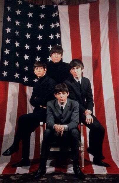 beatles american flag   ad stars