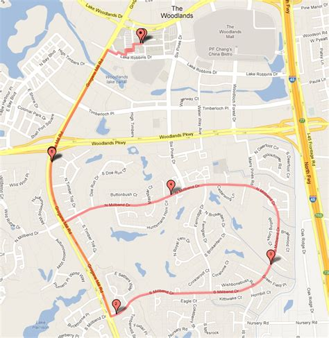 map of woodlands texas club maps the woodlands running club