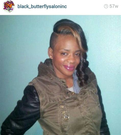 shaved side sew in full sew in shaved sides lovewhoyouare black butterfly