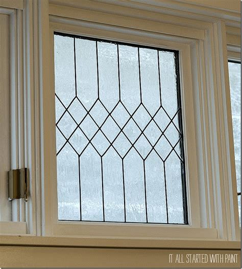 faux window remodelaholic how to diy faux leaded glass windows