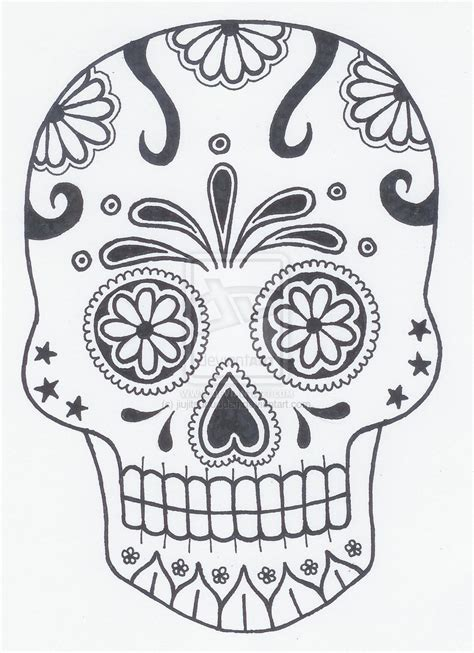 sugar skull 3 by jiujitsubuddah on deviantart