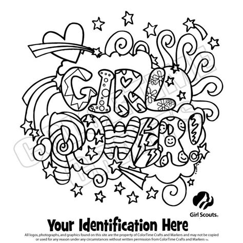 coloring pages girl scouts printable brownie girl scout coloring pages girl scout logo