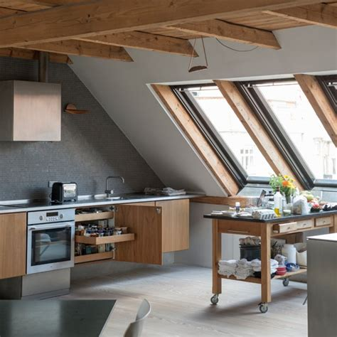 loft kitchen ideas loft kitchen with wood details modern kitchen design