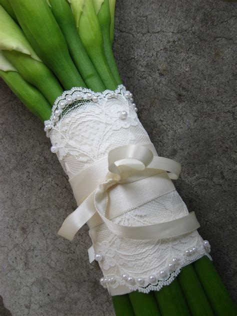 Wedding Bouquet Lace by Beaded Lace Wedding Bouquet Wrap