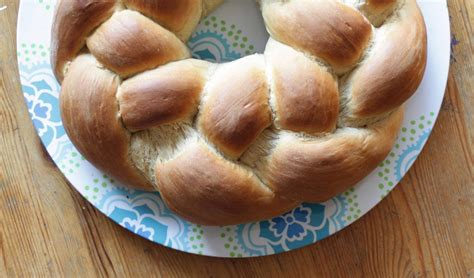 homemade braided yeast bread  sweet filling