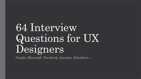 google design exercise interview 64 ux design interview questions at google facebook