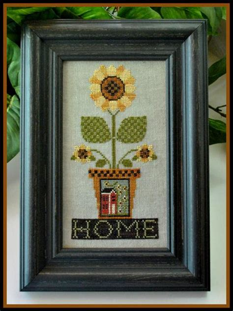 little house needleworks little house needleworks home is where the sunflowers grow beach cottage stitchers