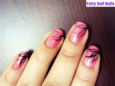 easy nail art black and pink pink and black nail art nail art gallery